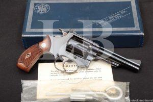 "Smith & Wesson S&W 34-1 1953 22/32 Kit Gun 4"" .22 LR Revolver, MFD 1966 C&R"