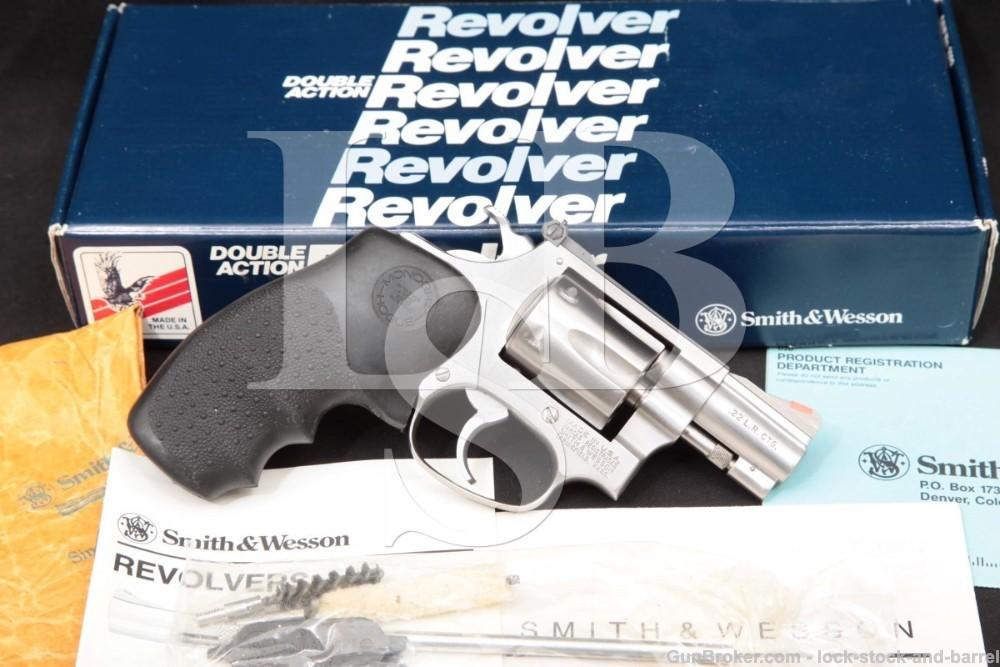 Smith & Wesson S&W 63-3 Lew Horton 102405 2″ .22 LR Revolver, MFD 1989