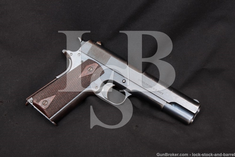 WWI Colt Model of 1911 US Navy .45 ACP Semi-Auto Pistol, MFD 1912 C&R