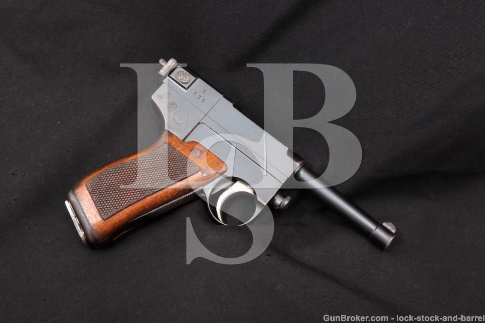 WWI Italian MBT Model 1910 9mm Glisenti Semi-Auto Pistol, MFD 1910-15 C&R