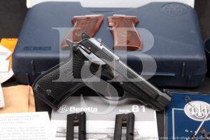 Beretta Model 87 Cheetah .22 LR 3.75 INCH Double Action DA/SA Semi-Auto Pistol, MFD 2009