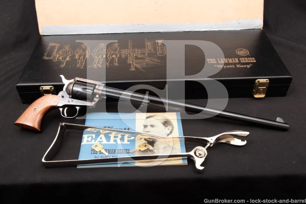 Colt Lawman Series Wyatt Earp Buntline 16 INCH Single Action Army Revolver, Stock & Case, SAA, 1 of 500, MFD 1970 ATF C&R