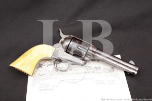 Colt 1st Generation Single Action Army SAA .45 & Letter, Muskogee Indian Territory Oklahoma shipped, 1902 C&R