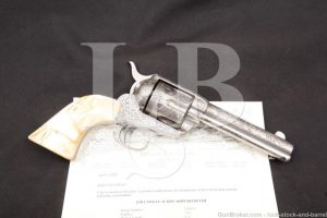Hartley & Graham Engraved .45 Colt Single Action Army Revolver & Letter Antique, SAA MFD 1884