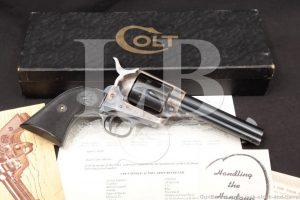 Hollywood Gun Shop, TX Shipped Colt 2nd Gen Single Action Army SAA .38 Spl Revolver & Letter, MFD 1959 C&R