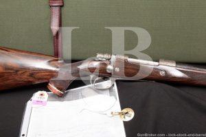 Jean Diet Engraved J. Glodt Belgian 300 Win. Mag. FN Mauser Custom Bolt Action Rifle, MFD 1993