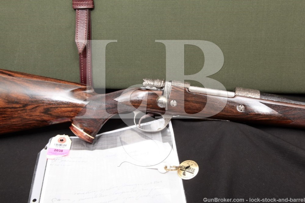 Jean Diet Engraved J. Glodt Belgian 300 Win. Mag. FN Mauser Custom Bolt Action Rifle, MFD 1993