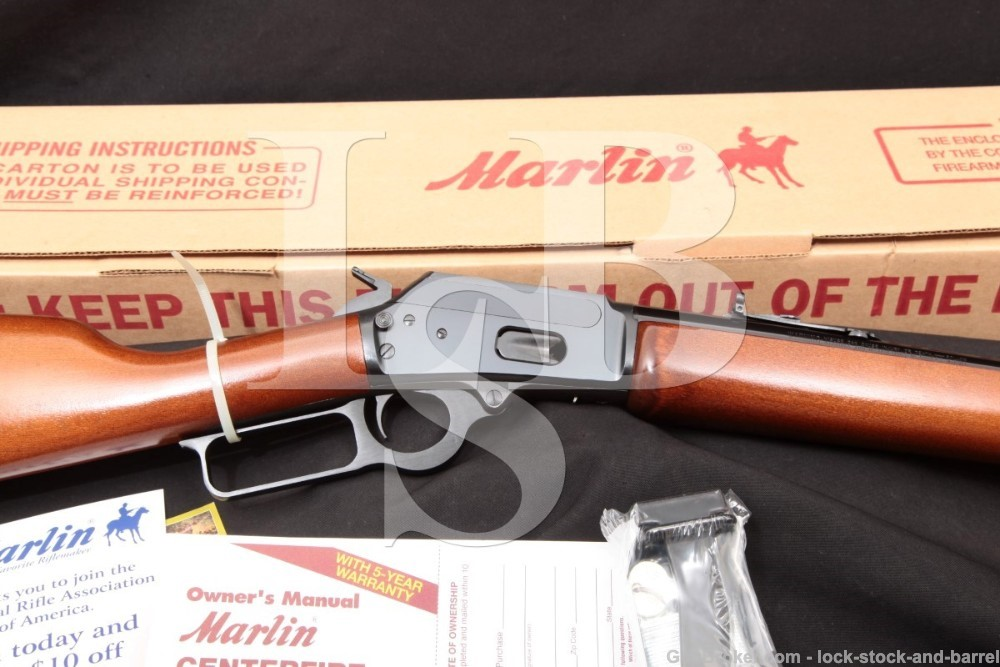 Marlin JM Marked Model 1894 20″ .45 Colt Lever Action Rifle & Box, MFD 2007