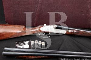 American Arms Grulla Ducks Unlimited Royal Premier Grade Two Barrel Set Engraved, 12 GA & 16 GA SXS Side by Side Shotgun