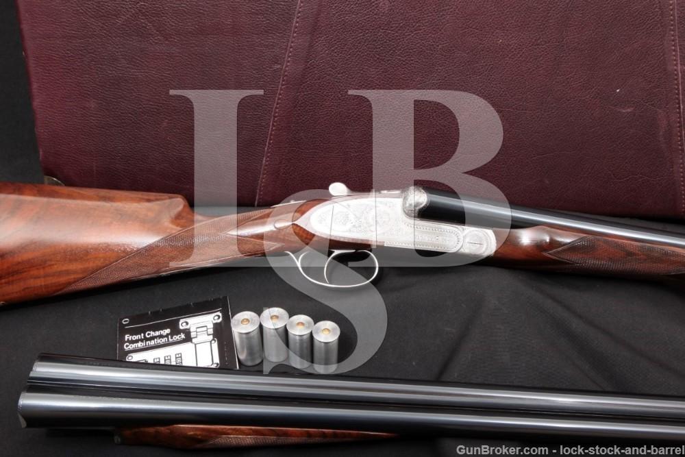 American Arms Grulla Ducks Unlimited Royal Premier Grade Two Barrel Set Engraved, 12 GA & 16 GA SXS Side by Side Shotgun