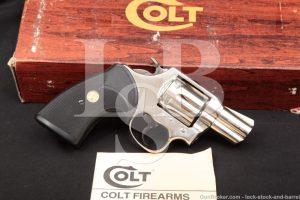 "Colt Lawman Mark MK III MKIII Nickel 2"" .357 Mag Magnum Revolver, MFD 1979"