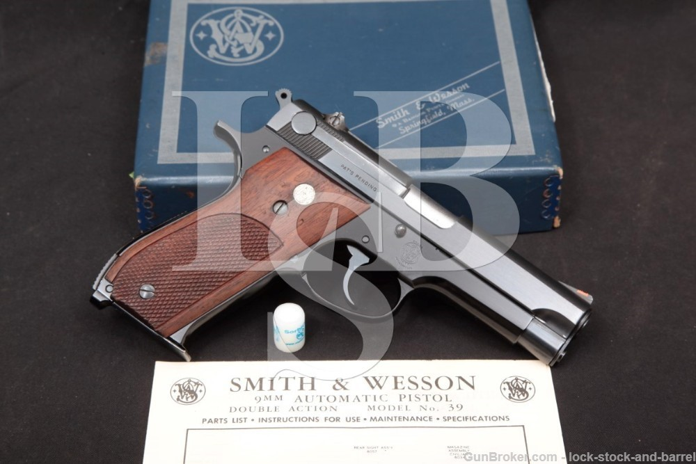 Smith & Wesson S&W Model 39 NO Dash 9mm Semi-Auto Pistol, MFD 1957-1969 C&R
