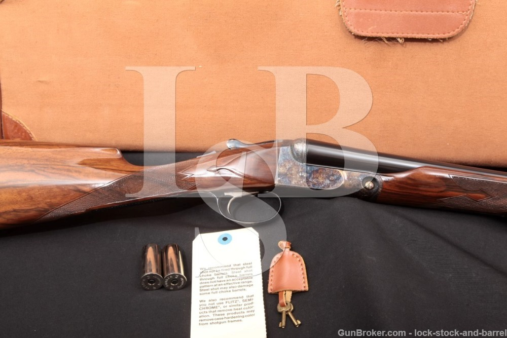 1 of 350 Winchester Parker DHE Steel Shot Special 12 GA SXS Side by Side Shotgun, MFD 1987-1989
