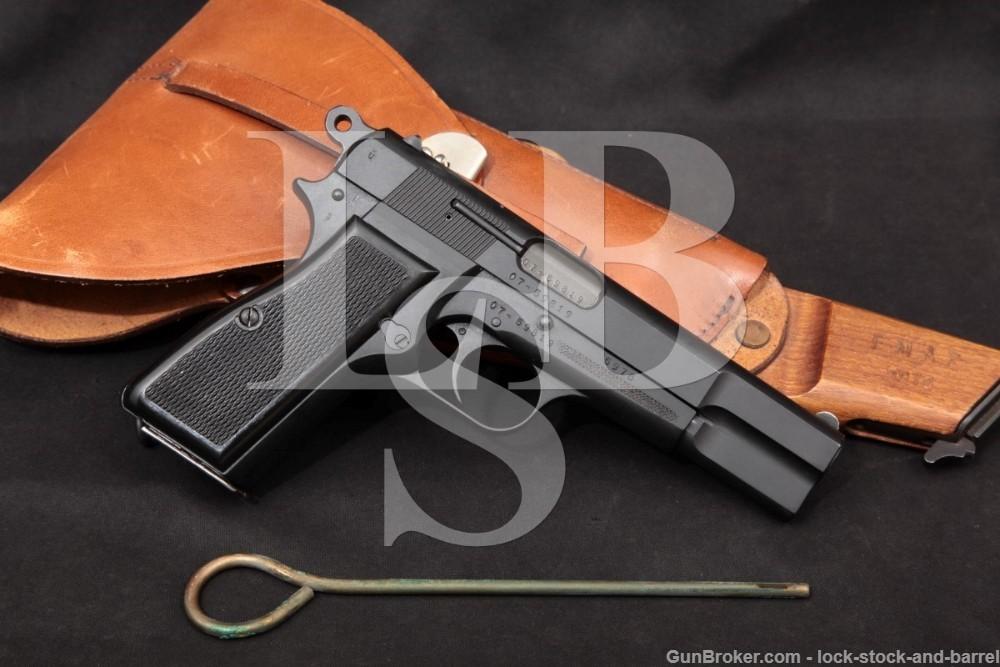 Carabineros de Chile Argentine D.G.F.M. Hi Power 9mm Semi-Auto Pistol, MFD 1974