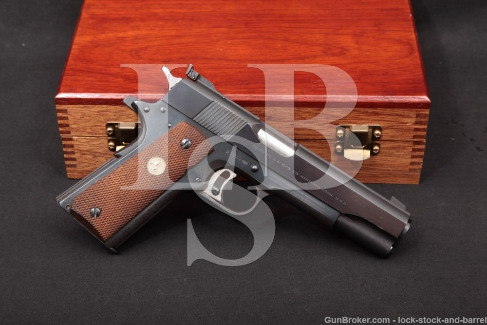 Colt Gold Cup National Match pre-Series '70 1911 .45 ACP Semi Auto Pistol, MFD 1969 C&R