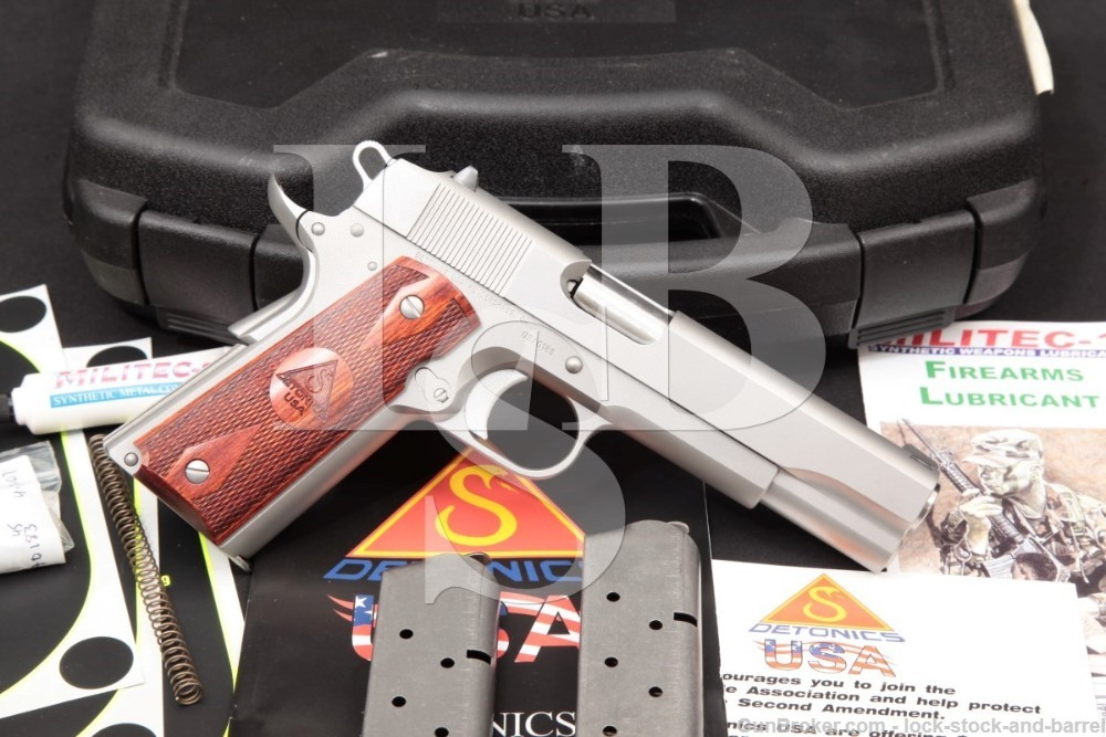 Detonics USA Model 9-11-01 Stainless 1911 .45 ACP Semi-Auto Pistol, MFD 2007