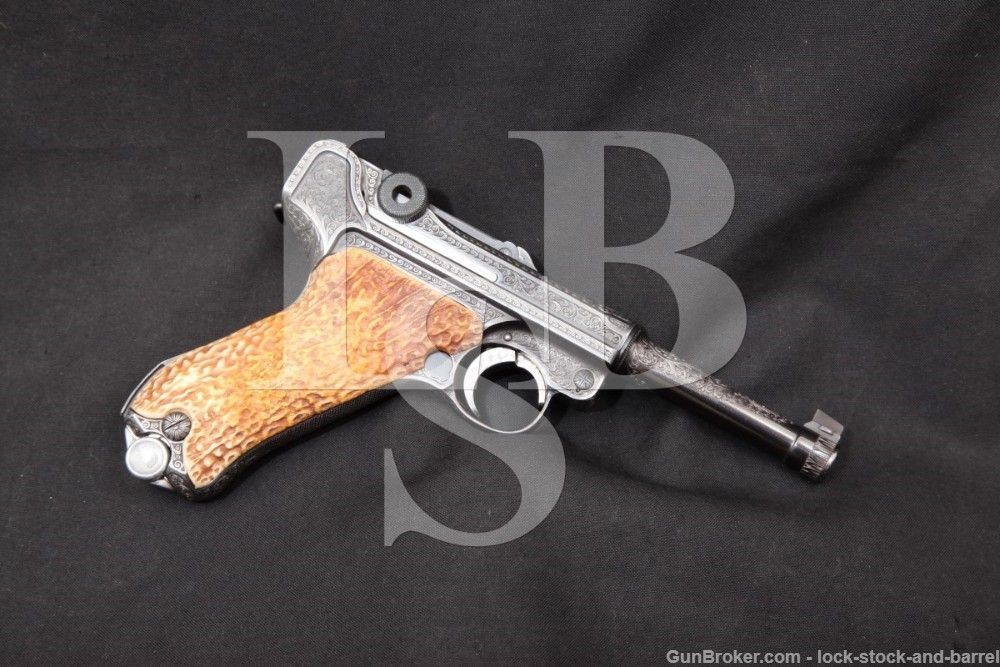 Kurt Jaeger Engraved Mauser P.08 P08 Luger 9mm Semi-Automatic Pistol, MFD 1936 C&R