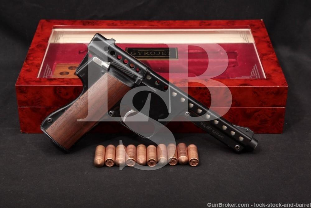 MBAssociates Gyrojet Roket Pistol Mark II Model C 12mm & Case, MFD 1968 C&R