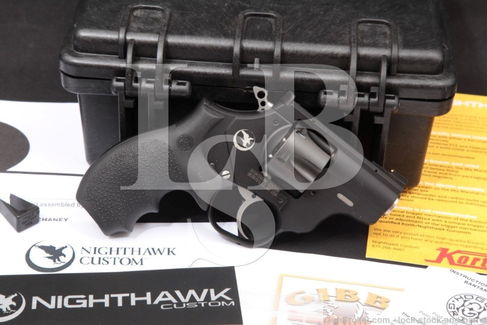 Nighthawk Custom Korth Model Sky Hawk Skyhawk 9mm 2 INCH Double Action Revolver, MFD 2019
