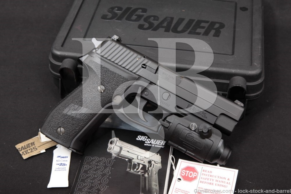 "Sig Sauer Model P226 MK25 Navy 9mm 4.4"" DA/SA Semi-Automatic Pistol, MFD 2013"