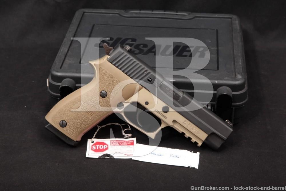 Sig Sauer P220 Combat .45 ACP 4.4 INCH FDE & Black DA/SA Semi-Auto Pistol, MFD 2015