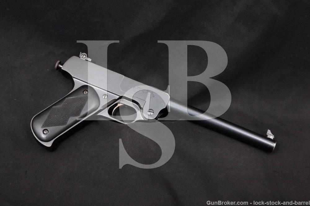 "Single Digit J. Stevens Model 10 Target .22 LR 8"" Single Shot Pistol, C&R"