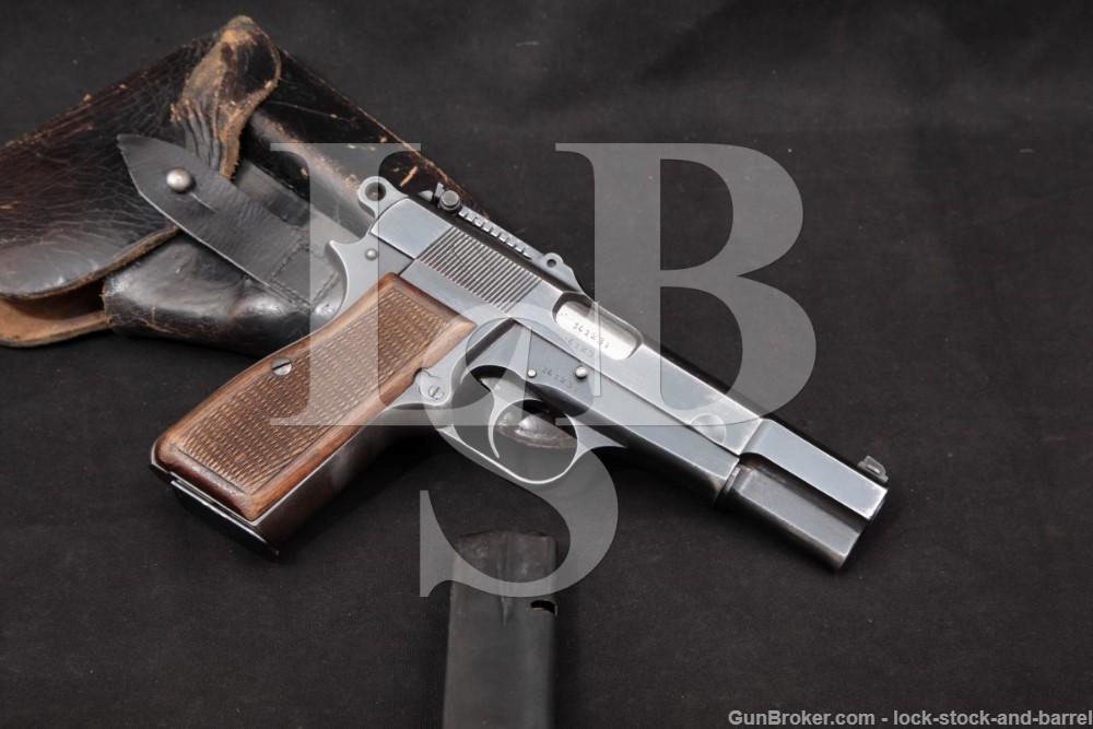 WWII Nazi Marked FN P35 M1935 Hi Power Tangent Sight 9mm Semi-Auto Pistol, MFD 1942 C&R