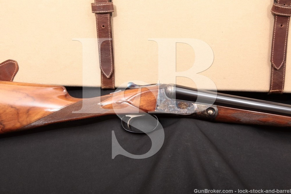 Winchester Parker Repro DHE Grade 12 GA SXS Side by Side Shotgun, MFD 1986-89