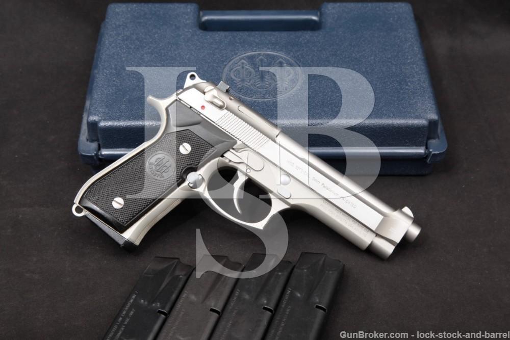 """Beretta U.S.A. 92FS Inox 9mm 4.9"""" Stainless DA/SA Semi-Automatic Pistol"""