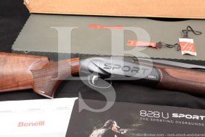 "Benelli 828U 828-U Sport 10730 30"" 12 GA O/U Over Under Shotgun, MFD 2018"