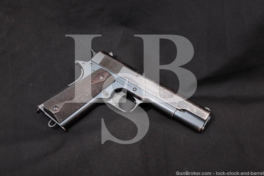 British Colt Government Model 1911 .455 Webley Semi-Auto Pistol, 1916 C&R