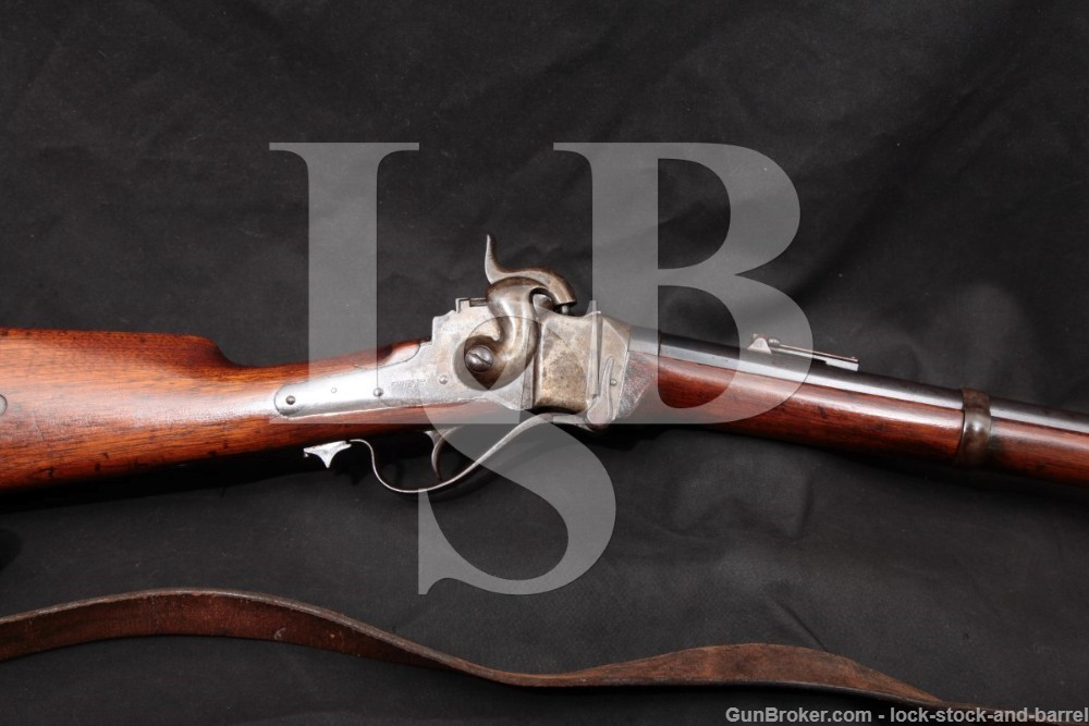 C. Sharps New Model 1863 .52 Cal Percussion Military Rifle, 1865 Antique