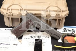 CMP Service Grade Remington Rand 1911A1 1911-A1 US .45 ACP Pistol, 1943 C&R