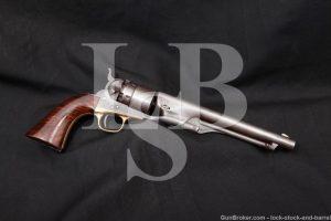 Civil War Colt Model 1860 Army .44 Cal Cap & Ball Revolver, 1863 Antique