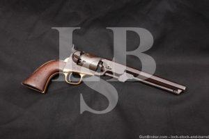 Colt 1851 Navy .36 Cal Percussion Cap & Ball Revolver, MFD 1863 Antique