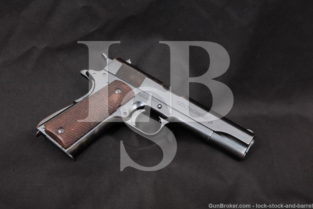 Colt 1911 Commercial Government Model Transitional Pistol, MFD 1925 C&R