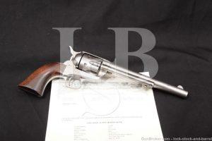 "Colt 1st Gen Single Action Army SAA .45 7 1/2"" Revolver, MFD 1876 Antique"