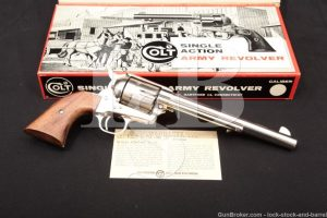 Colt 2nd Generation Single Action Army SAA .45 Revolver, 1970 ATF C&R