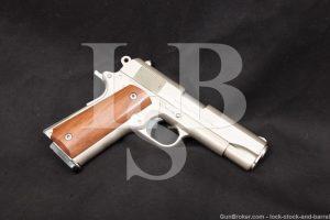 "Colt Combat Commander Nickel 4.25"" Pre-Series 80 1911 45 ACP Semi-Auto 1981"
