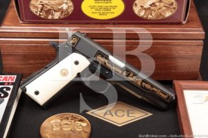 Colt Joe Foss All American Hero Commemorative 1911 .45 ACP Pistol, MFD 1989