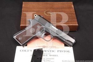 Colt Lightweight Commander Model 1911 45 ACP Semi-Automatic Pistol 1968 C&R