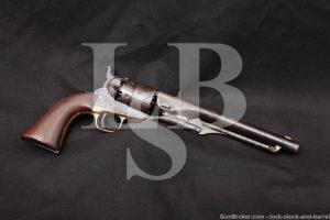Colt Model 1860 Army .44 Cal Percussion Cap & Ball Revolver, 1868 Antique