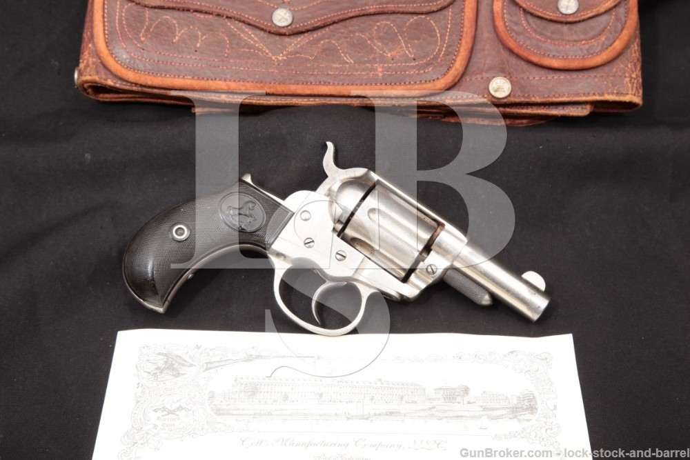 "Colt Model 1877 Lightning 2 1/2"" Nickel .38 LC Double Action Revolver, 1880"