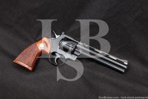 """Colt Python Model I3660 Blue 6"""" .357 Magnum Double Action Revolver MFD 1979"""