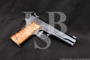 Custom WWI Colt Model of 1911 U.S. Army .45 ACP Semi-Auto Pistol, 1918 C&R