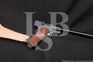 """DWM Luger P.08 P08 Commercial 16 1/4"""" 9mm Semi-Auto Pistol, 1920-1923 C&R"""
