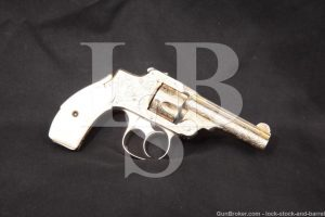 Engraved Gold Smith & Wesson .32 S&W Safety Hammerless 1st Model, Antique