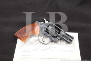 Factory C Engraved Colt Detective Special .38 Spl Revolver & Letter, 1976