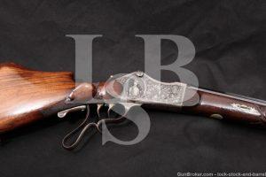 G. Fritsch Zweibrucken Schuetzen 8.14x46R Single Shot Target Rifle MFD 1909