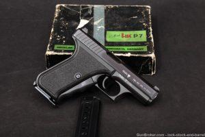 Heckler & Koch H&K HK Model P7 Squeeze-Cock 9mm Semi-Auto Pistol, MFD 1981